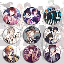 Anime Bungou Stray Dogs Badges on a Backpack Dazai Chuuya Icon Pins Badge Decoration Brooches Metal Badges For Clothes DIY Gifts