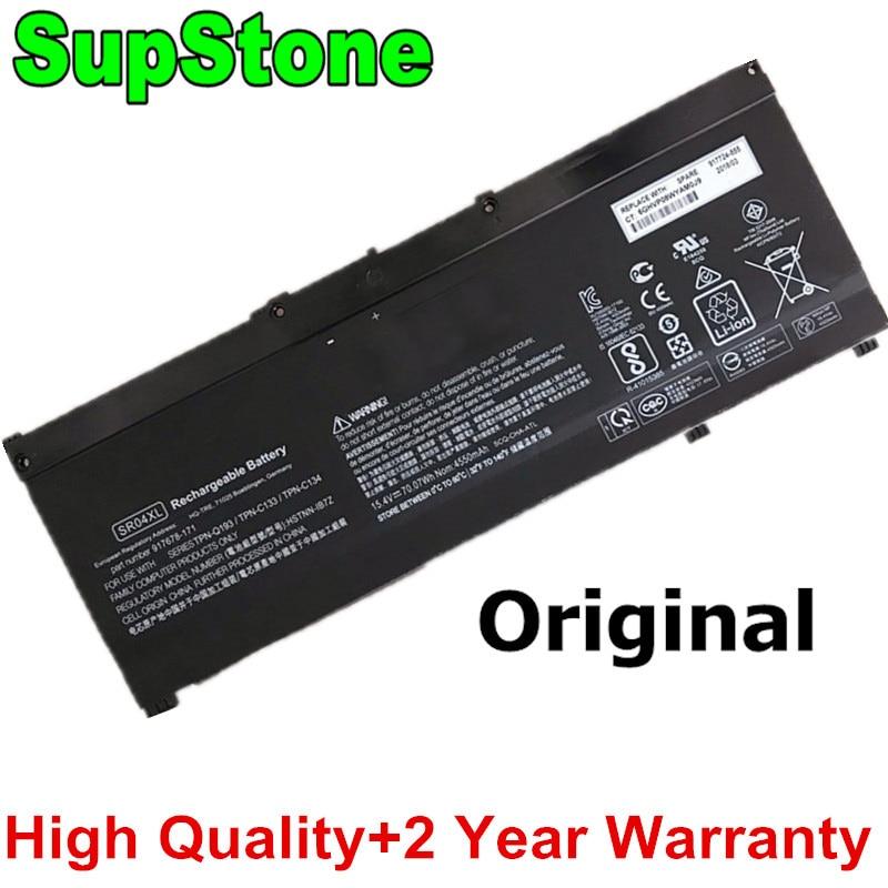 SupStone حقيقية SR04XL HSTNN-DB7W محمول بطارية لجهاز HP فأل 15-CE DC0007LA 15-CB014UR TPN-C133 C134 Q193 TPN-Q194 917724-855