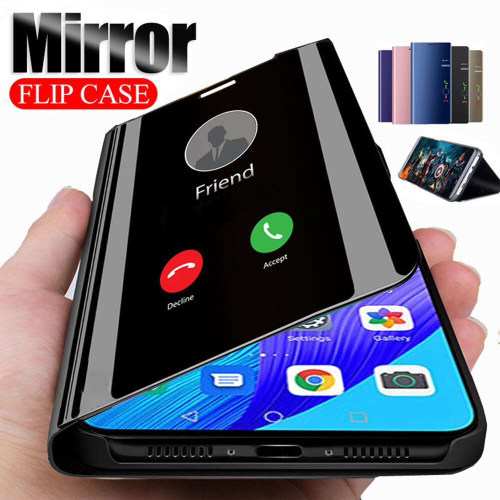 Espejo inteligente Flip caja del teléfono para Huawei Honor 20 Pro 20 10 Lite 10i Nova 5T 9X cubierta en Honor 10 Lite 20Pro vista clara caso