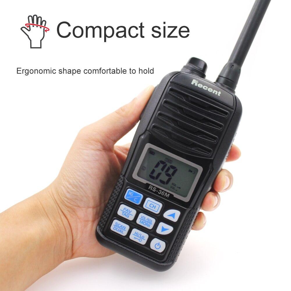 WaterproofRecent RS-36M  VHF  Marine Radio 156.000-161.450MHz IP67 Waterproof Handheld Float Radio Stadion 5W  Walkie Talkie enlarge