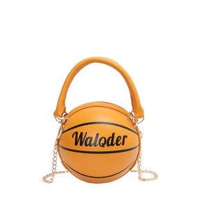 Round Handbag for Women Chain Messenger Bag Lady Basketball Shape Fashion Creative Tote Women Lovely Shoulder Bag Bolsa Feminina