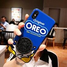 3D lindo Oreo café con leche galleta sándwich fundas de teléfono suave para Samsung Galaxy S8 S9 S10 más S7 borde Nota 8 9 10 pro