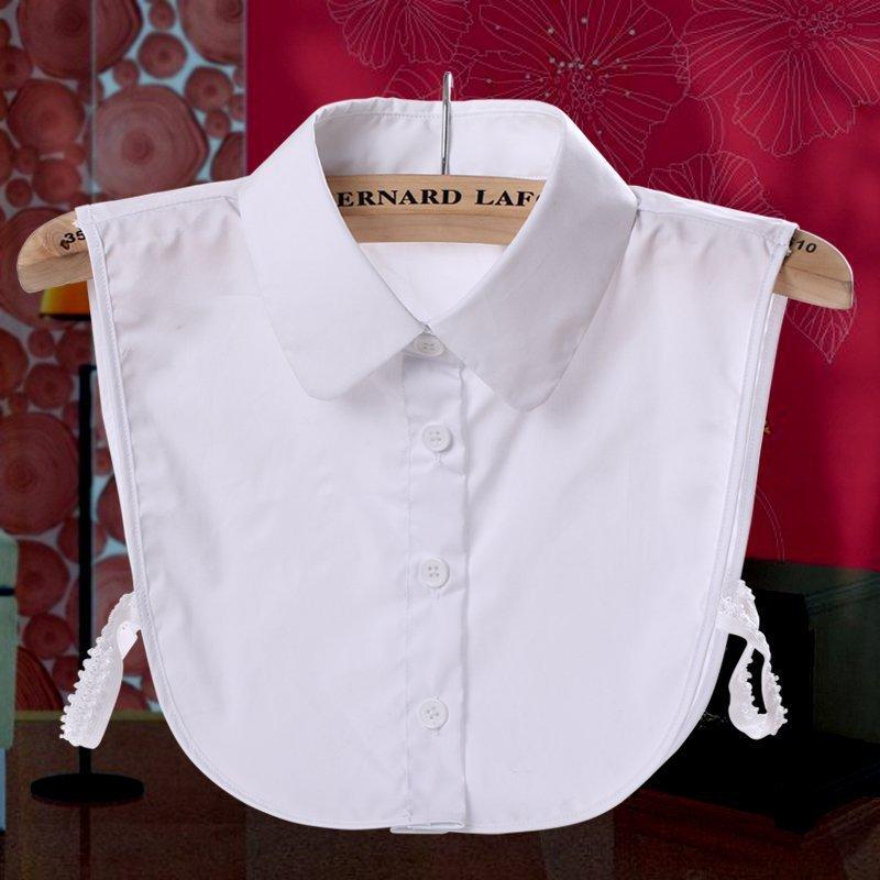 Однотонная рубашка, имитация воротника, галстуки, белая и черная блузка, винтажные съемные воротники, женские аксессуары для одежды, съемны...