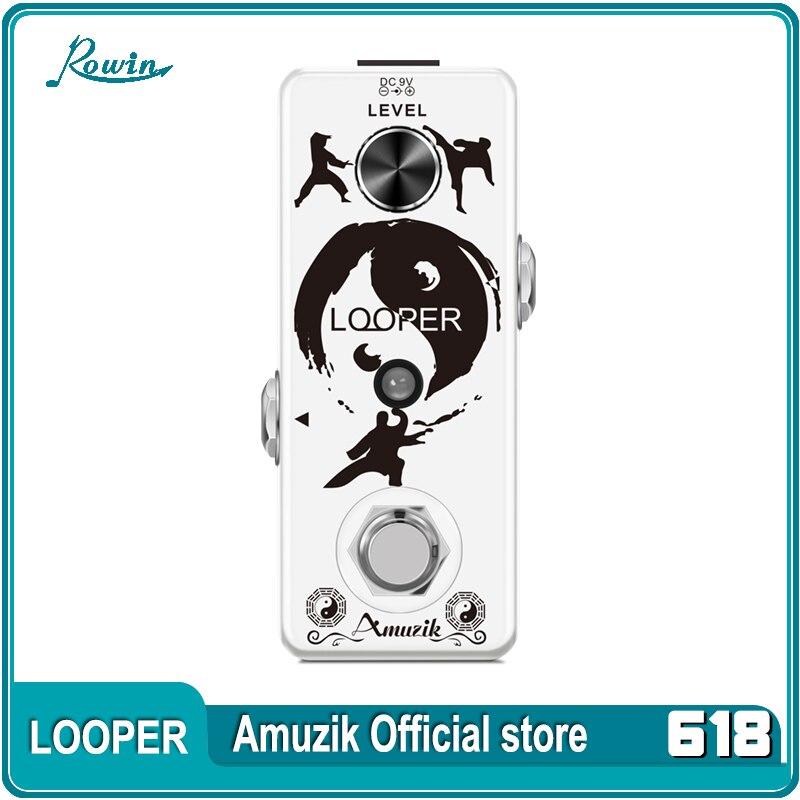 تميمة LEF-332 الغيتار Looper دواسة الرقمية Looper تأثير الدواسات ل الغيتار الكهربائي باس 10 دقيقة وقت التسجيل