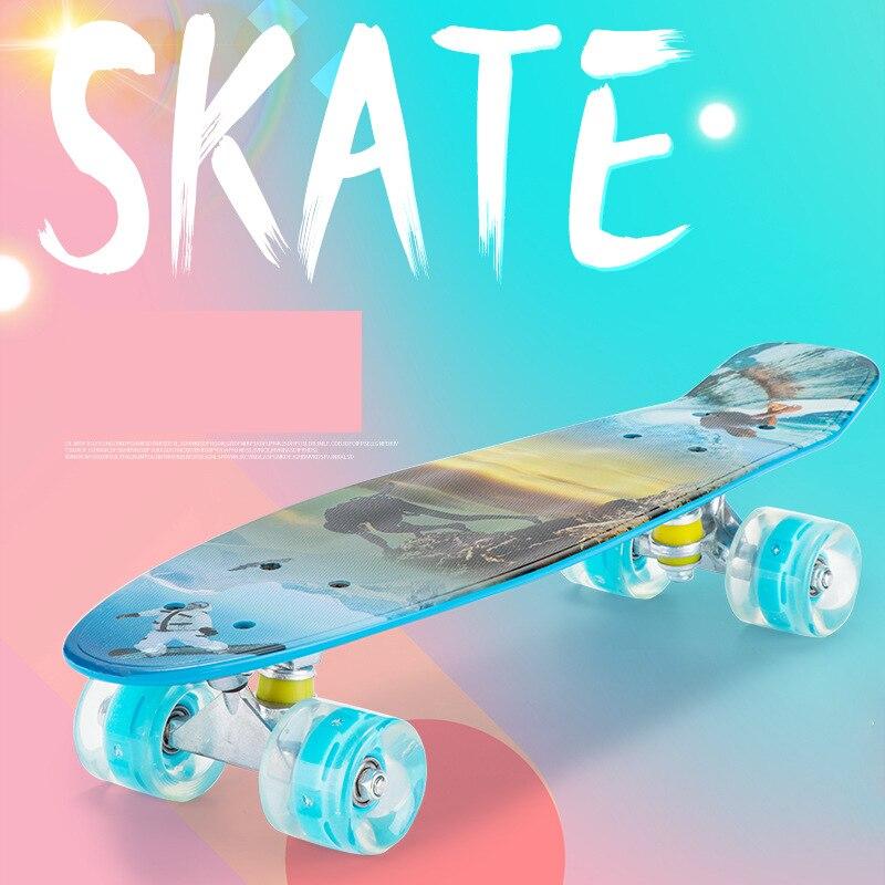 Скейтборд, круизер, Пенни борд, ретро Лонгборд, четырехколесный мини-Лонгборд, пастельный цвет, скейтборд, полный, для мальчиков и девочек