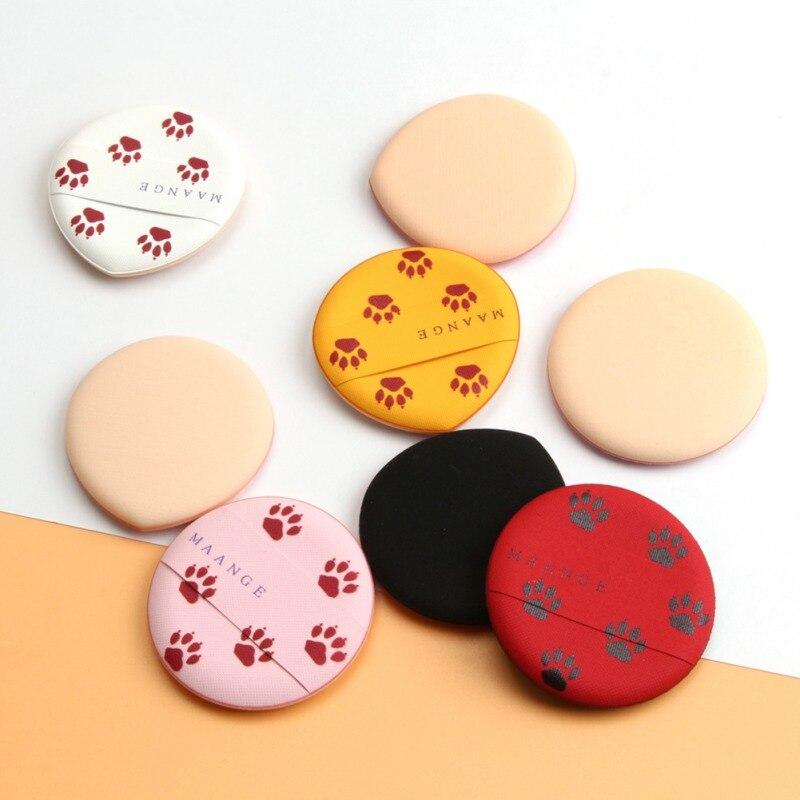 8 unids/set puff, cojín de aire esponja seca y húmeda de doble uso líquido polvo suelto de base de maquillaje nuevo u