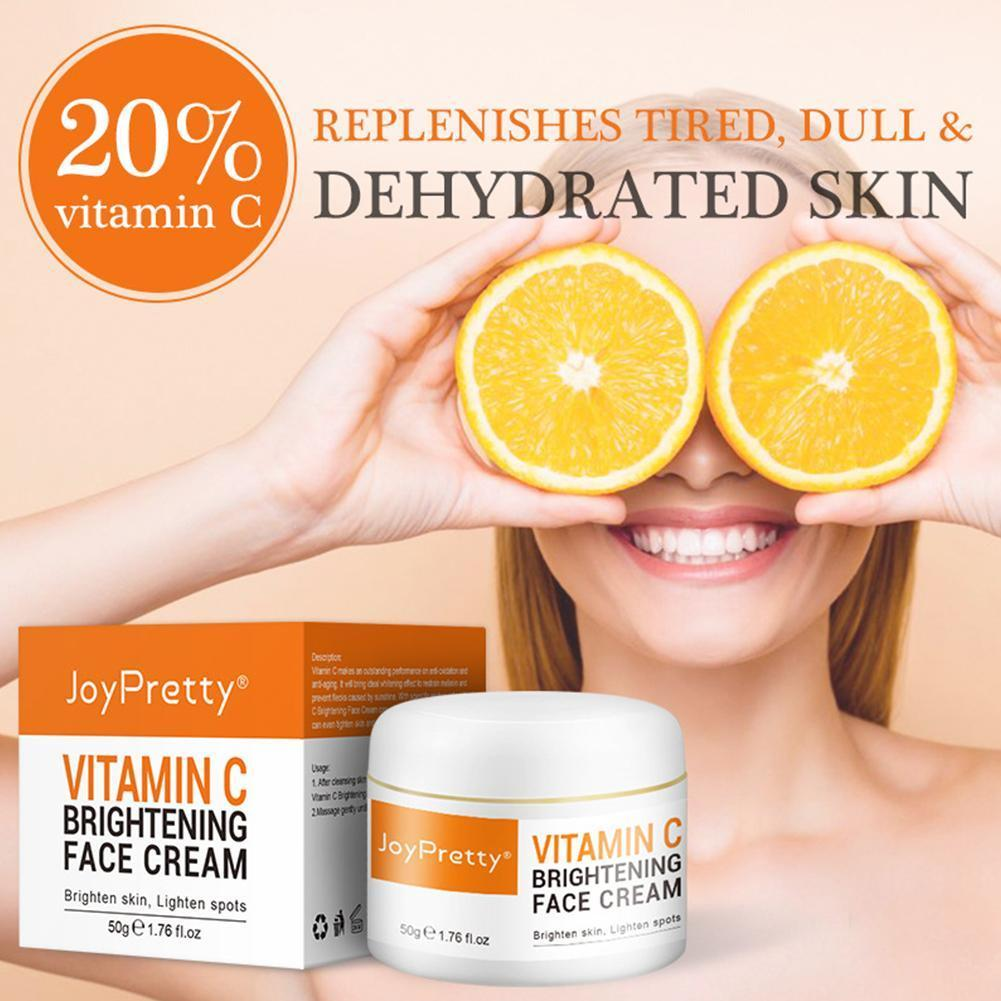 face cream vitamin c hyaluronic acid whitening nourish brighten remove freckle improving dull skin anti aging Vitamin C Whitening Face Cream Hyaluronic Acid Moisturizing Improving Dull Skin Anti Anti-Aging Firming Cream Dropship