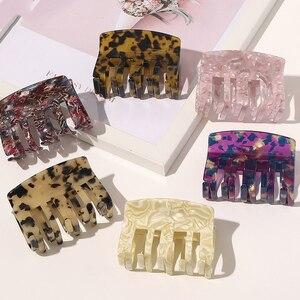 2020 New Claw Clip for Women Leopard Acetate Hair Claw Acrylic Hair Clamp Clip Crab for Hair Accessories for Girls Hair Headwear