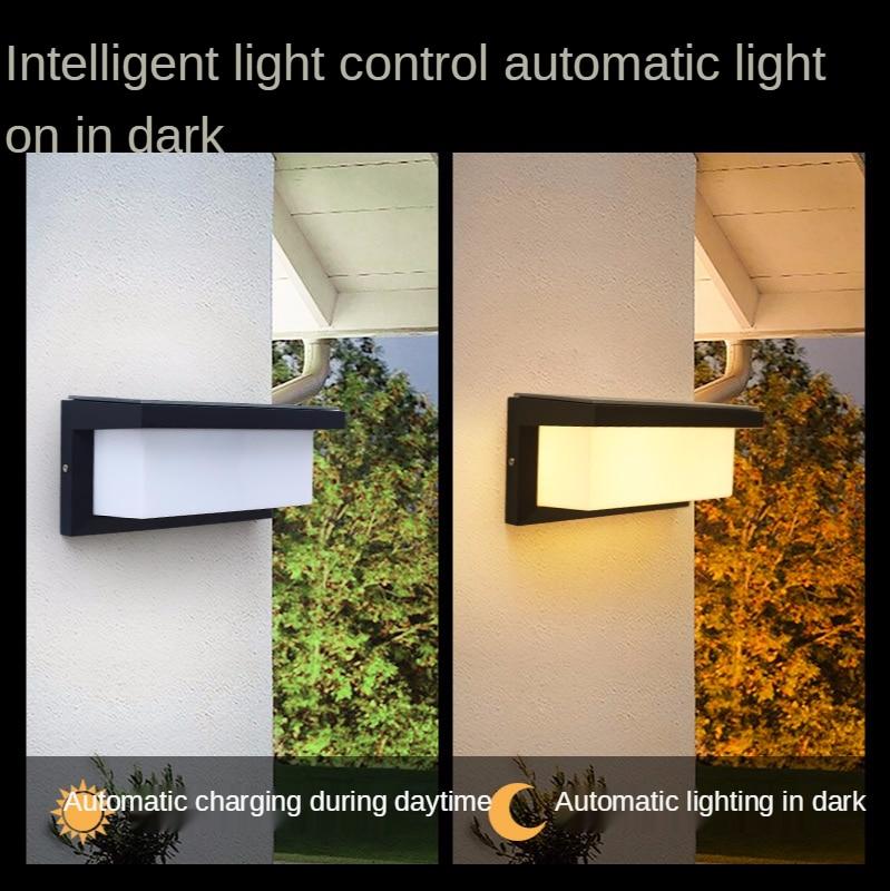 Solar Wall Lamp Sensor Household Outdoor Waterproof Courtyard Lamp Light Controlled Solar Lamp At The Gate  lampada solar enlarge