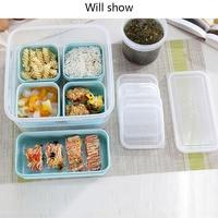 6pc Lunch Box Eco-Friendly Bento Box Food Container Food Organizer Food Storage Box Microwavable Leakproof Crisper Box Fresh Box