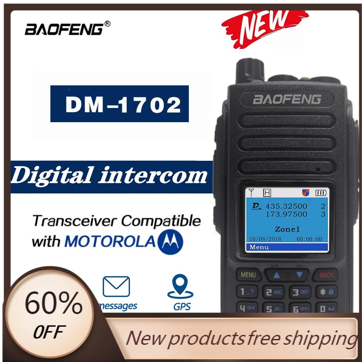 2021 baofeng dm1701 dm 1702 gps walkie talkie duplo tempo slot dmr digital analogico