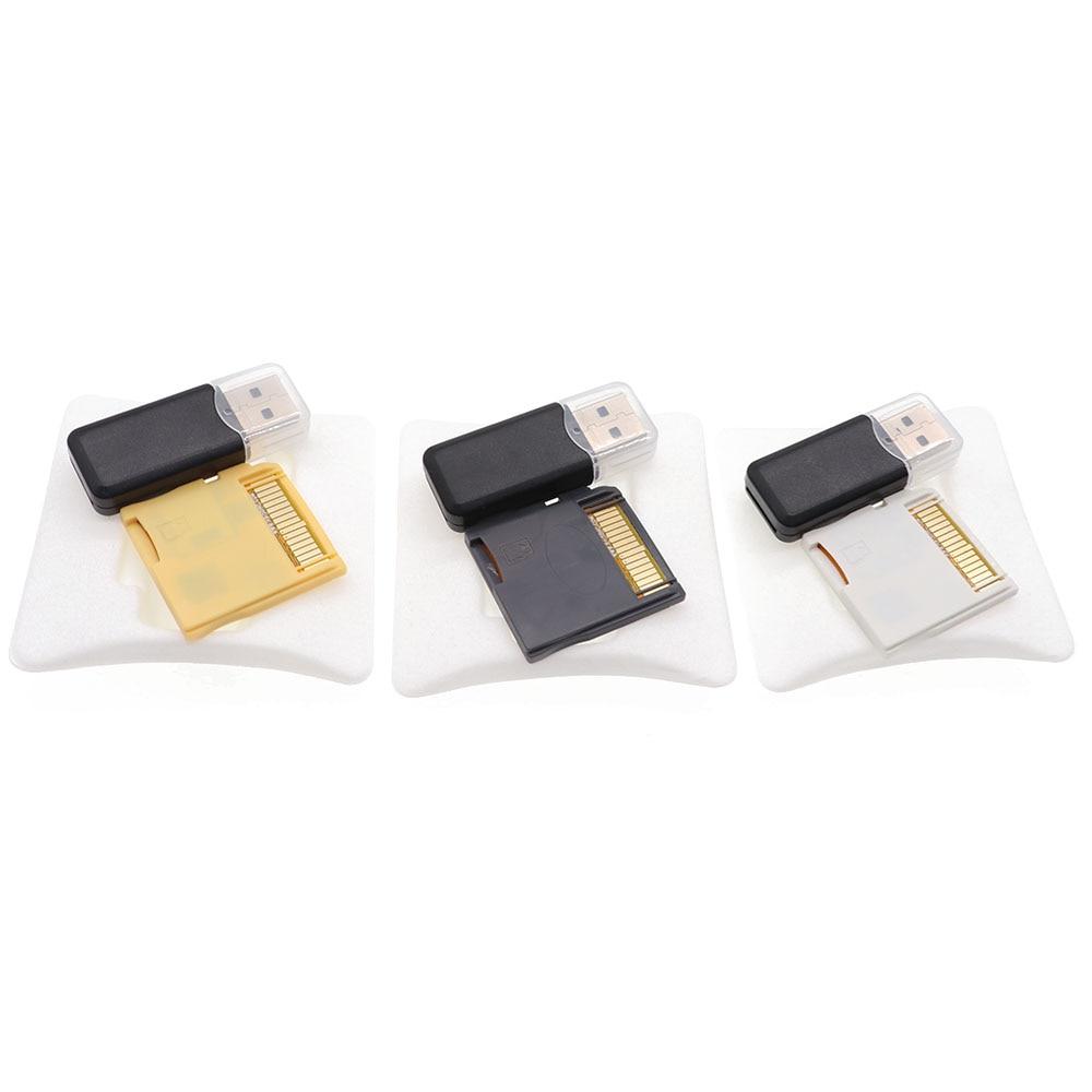 2021 novo r4 sdhc usb adaptador com leitor de cartão tf sd ouro pro/branco/prata 3 cores para nintend nds/3ds/2ds/ndsl