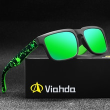 Viahda NEW Fashion Polarized Sunglasses Men/Women Colorful Reflective Coating Lens Eyewear Accessories Sun Glasses