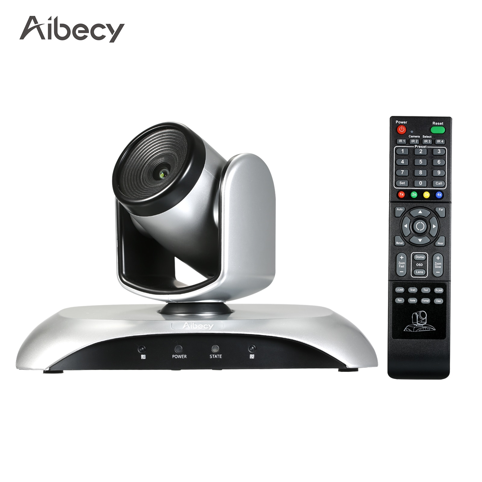 Aibecy 1080P كاميرا فيديو للمؤتمرات 10X زووم بصري زاوية واسعة كاميرا ويب ل H.264 ضغط الصلب 355 درجة دوران للاجتماعات