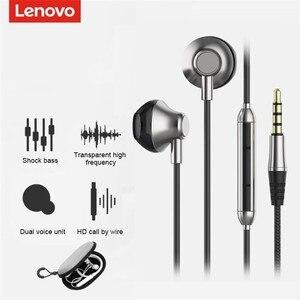 Original Lenovo H101 3.5mm In-Ear Wired Earphone Sound Heavy Subwoofer Driver Stereo Mic  Earphone
