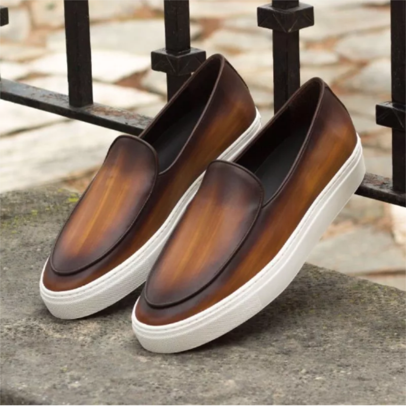 2021 Spring New Men's Leather Shoes Business Casual Fashion Trend All-match Japanese Retro Nostalgic