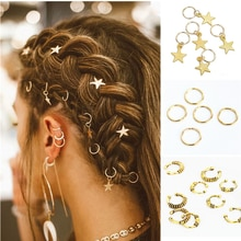 5pcs/Pack Different 49 Styles Charms Hair Braid Dread Dreadlock Beads Clips Cuffs Rings Jewelry Drea