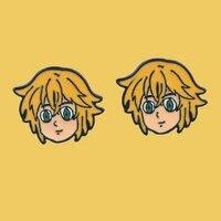 sp887 1 pair anime boy cartoon earrings cute stud earrings for women girls fashion jewelry children gifts