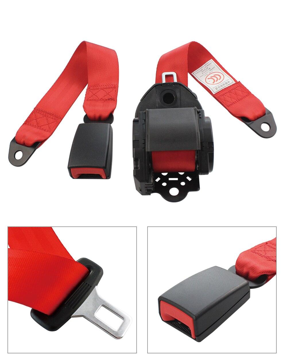 Cinghia di sicurezza con chiusura di emergenza cintura di sicurezza per auto a 3 punti retrattile rossa blu con viti cintura di sicurezza automatica