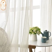 americancurtains for living dining room bedroom solid color simple solid color white tulle curtainfinished product customization