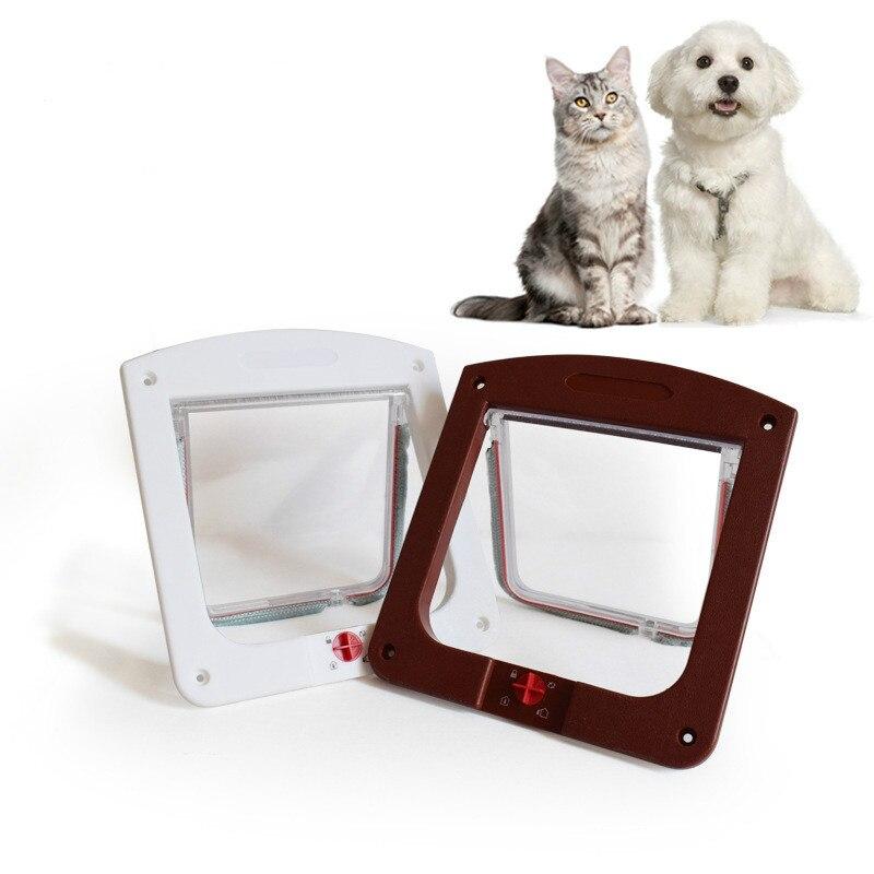 24,4 cm x 20,3 cm x 3cm entrada y salida de mascotas Puerta de gato agujero de gato puerta de vidrio cachorro perro puerta Puerta de mascota perro valla de Mascota