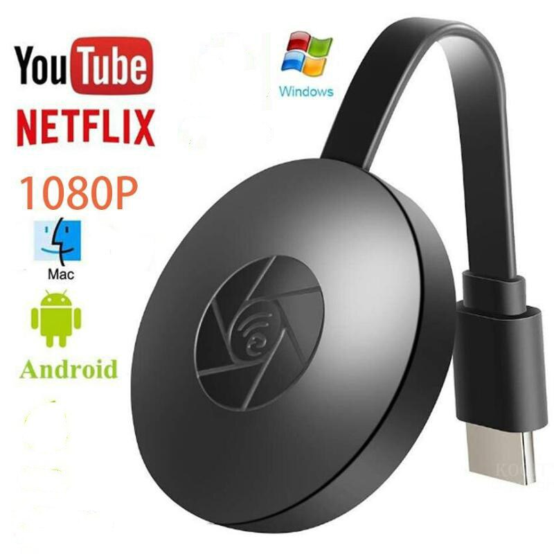TV Stick Wifi inalámbrico receptor pantalla HDMI 1080P Miracast Airplay Flujo de medios dongle hdtv para DLAN YouTube Netflix