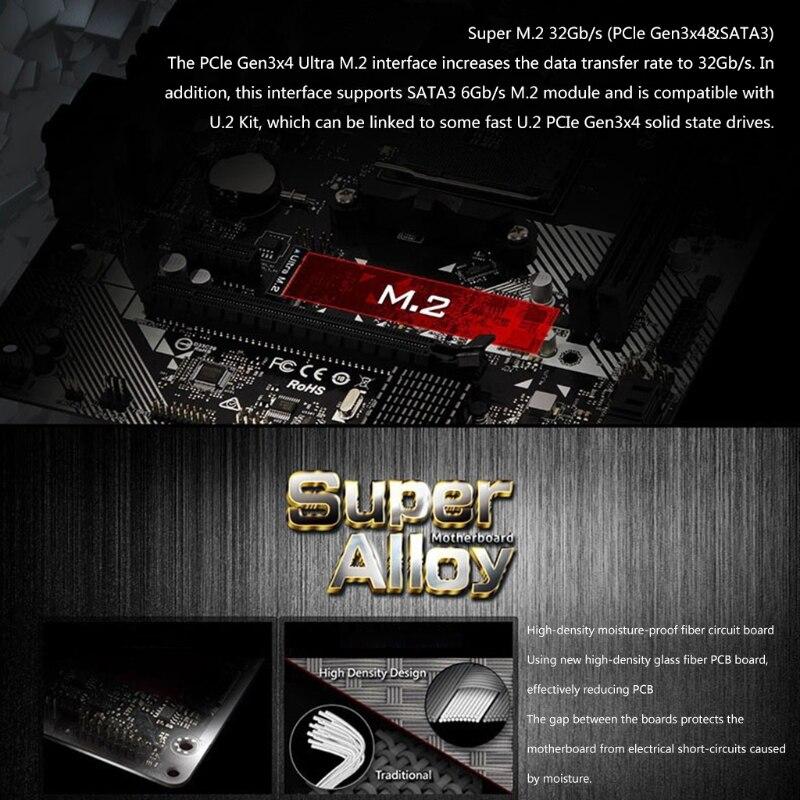 A320M-HDV R4.0 Desktop Motherboard PC AM4 Socket DDR4 SATA3, Ultra M.2 USB 3.1 VGA Micro-ATX Mainboard Motherboard enlarge