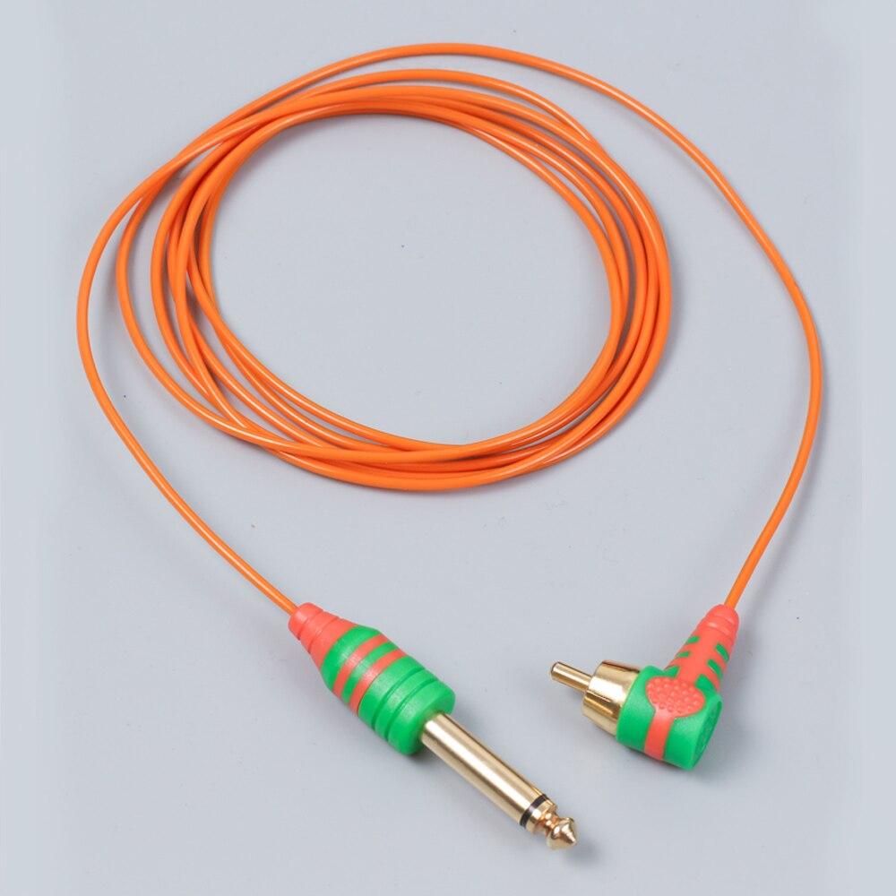 Nuevo cable de tatuaje de silicona RCA 2m, cable de Clip de goma para máquina de tatuaje, máquina de pluma, cable de alimentación para tatuaje