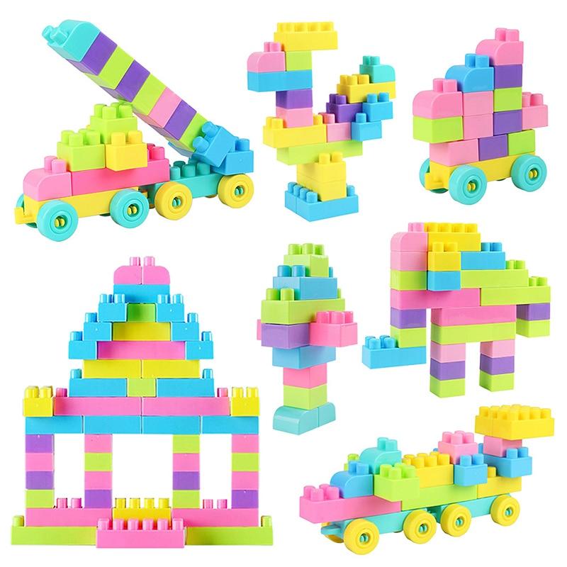 Творческие DIY классические строительные блоки большого размера разноцветный