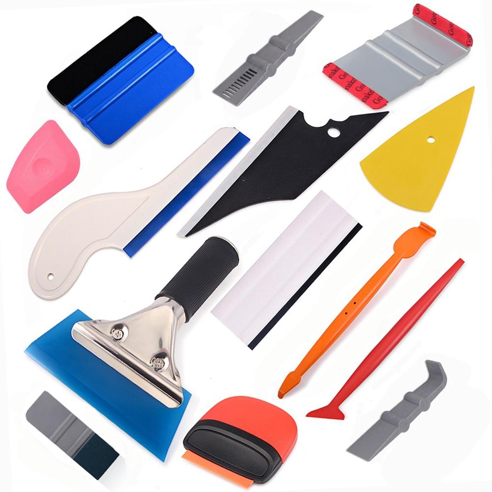EHDIS Carbon Fiber Vinyl Wrap Car Tool Kit Magnet Stick Squeegee Film Sticker Scraper Auto Wrapping Window Tint Car Accessories
