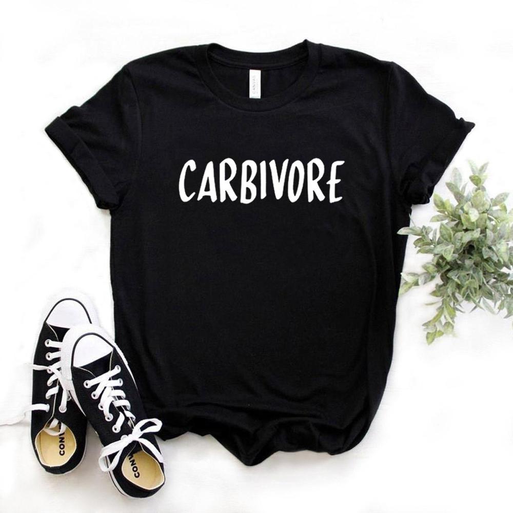Women T Shirt Carbivore Letters Print Tshirt Women Short Sleeve O Neck T-shirt Ladies Causal Tee Shirt Tops TX5578 недорого