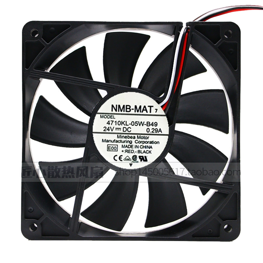 For NMB 4710KL-05W-B49 12025 12CM 24V 0.29A equipment fan 120*120*25MM