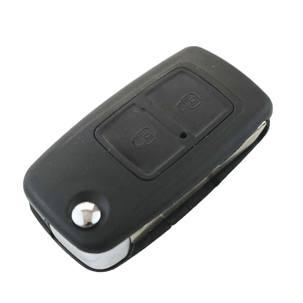 OkeyTech 2 Buttons For Chery A5 Fulwin Tiggo E5 A1 EASTER Car Key Case Remote Key Shell Fob Blank Key Folding Flip Uncut Blade