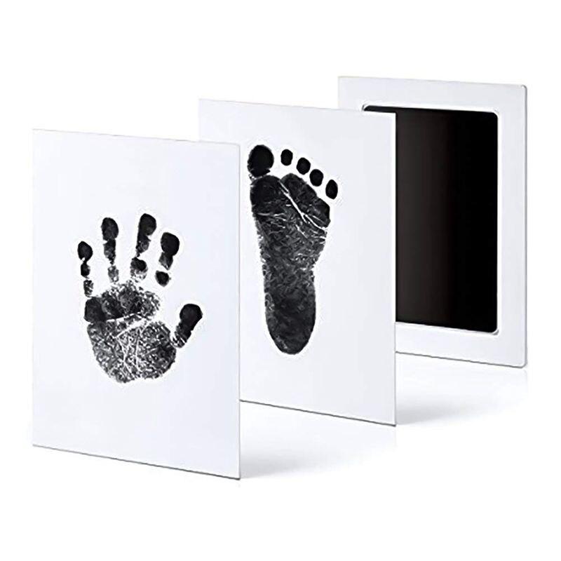 6 bloco handprint e pegada almofadas de tinta sem tinta-toque, kit de impressão segura para bebê e animais de estimação 3 grandes almofadas de tinta + 6 cartões de impressão, bla