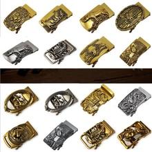 new Antique automatic buckle men's belt head retro alloy buckle trousers belt buckle head golden faucet buckle luxury fashion