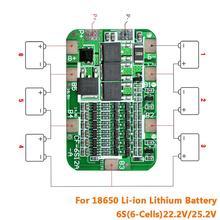 6S 15A 24V PCB BMS carte de Protection pour 6 Pack 18650 Li-ion batterie au Lithium Module de cellule Kit de bricolage une pièce