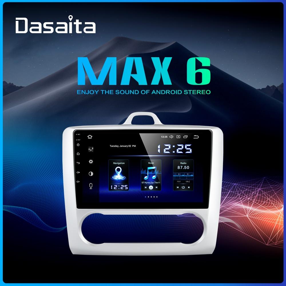 "Dasaita 9"" IPS Screen TDA7850 Car Android 9.0 for Ford Focus 2 Radio 2004 2005 2006 2007 2008 2009 2010 2011 GPS Navigator HDMI"