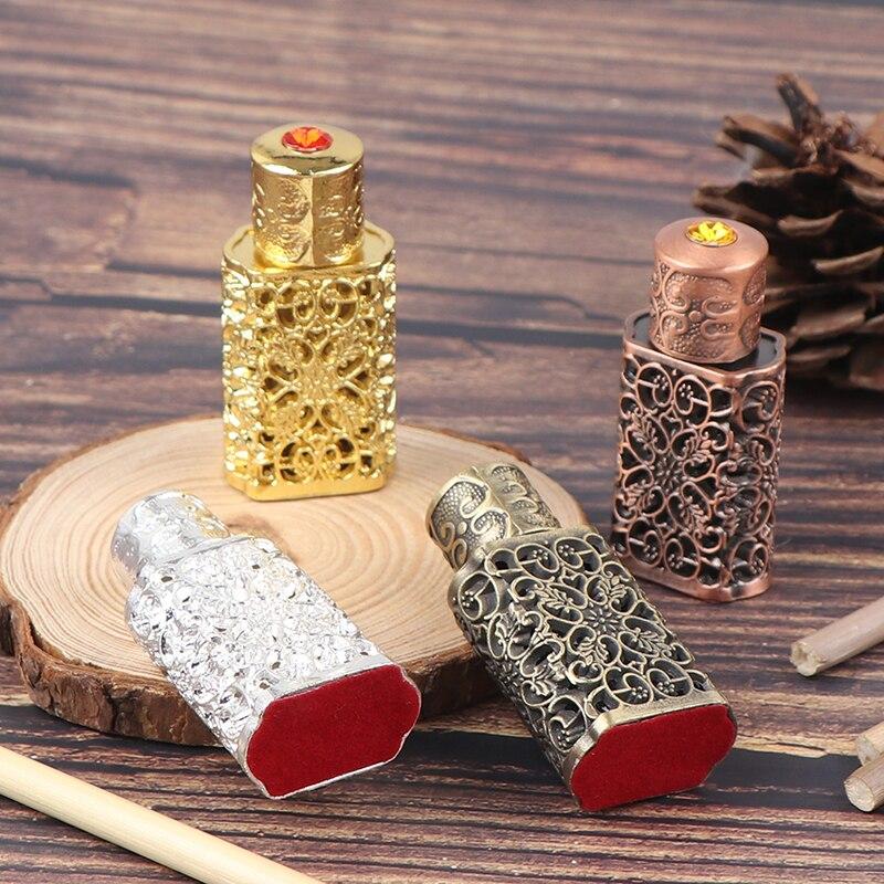 Mini antiqued parfume recarregável garrafa estilo árabe óleos essenciais atomizador perfume spray garrafa
