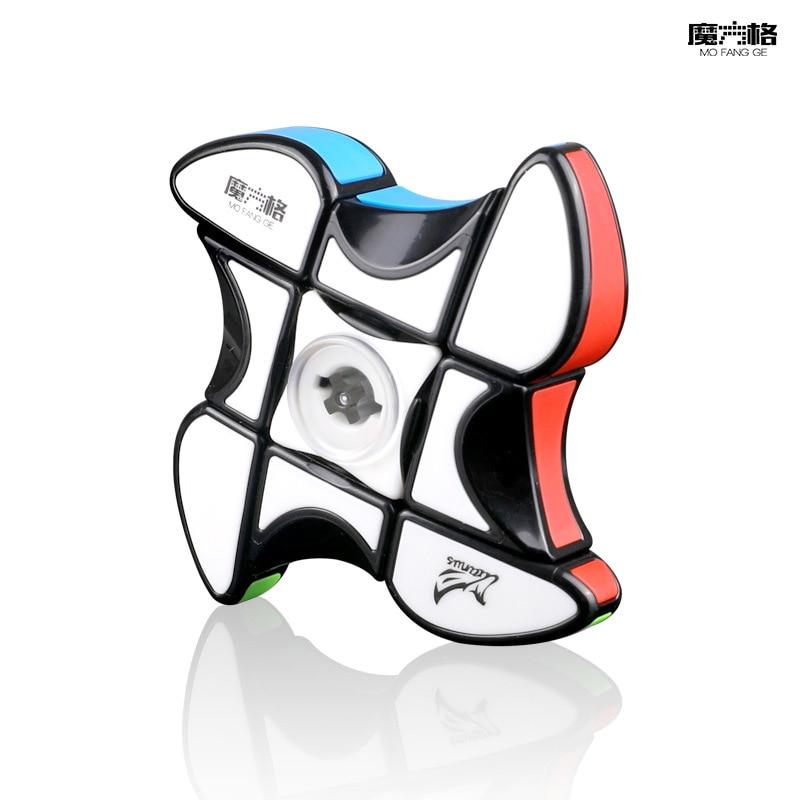 qiyi cubo magico giratorio para dedos 1x3x3 quebra cabecas 2 em 1 brinquedo antiestresse 133