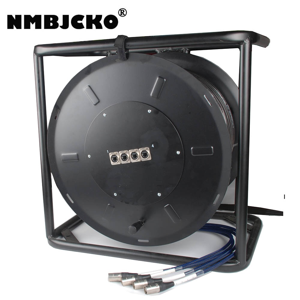 NMBJCKO CAT6 4 pares stp red multicable blindado Ethernet RJ45 Cable de Audio Digital 80M carrete Snake