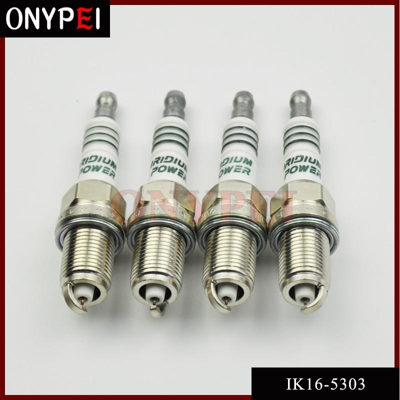 4 Uds. IK16 5303 vela de coche encendido de iridio bujía para Toyota Nissan Honda Hyundai Kia mercedes-benz IK16-5303