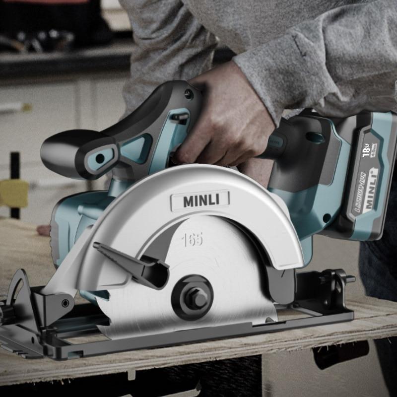 Lithium Battery Circular Saw Cordless Stone Cutting Machine 6 inch Woodworking 7 inch Table Saw Portable Circular Saw enlarge