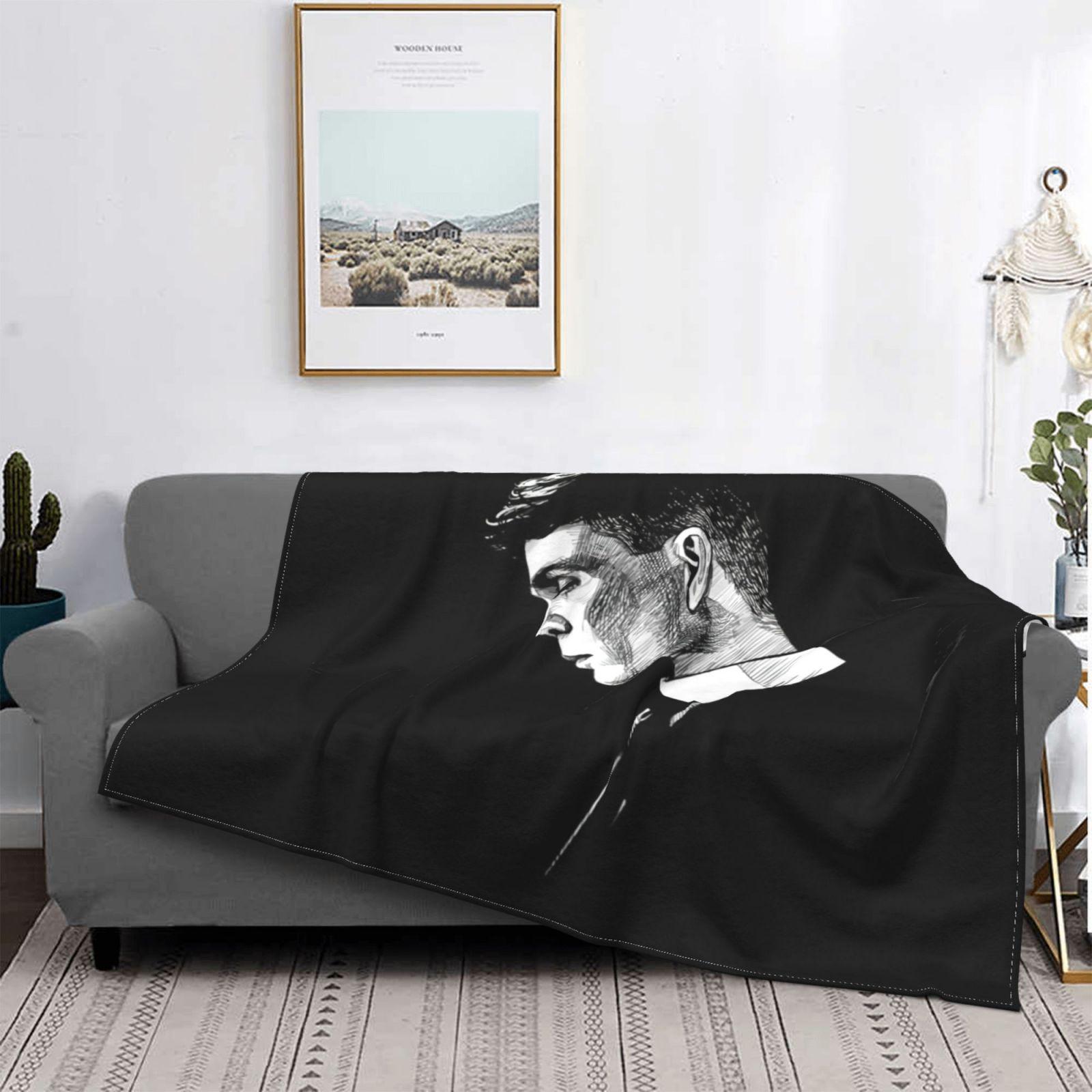 Peaky Blinder-بطانية فاخرة من الصوف شيربا ، مفرش سرير عصري وناعم للتخييم