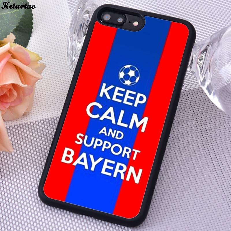 Мягкий черный Чехол Ketaotao из ТПУ с надписью Keep Calm And Support, Бавария, чехол для телефона iPhone 6S 7 8 Plus 5 SE X XS XR 11 PRO MAX для samsung