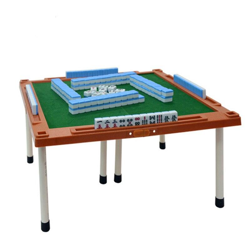 Novo portátil mahjong mini majiang com mesa dobrável tradicional chinês jogo de tabuleiro da família interior entretenimento jogo mah-jong