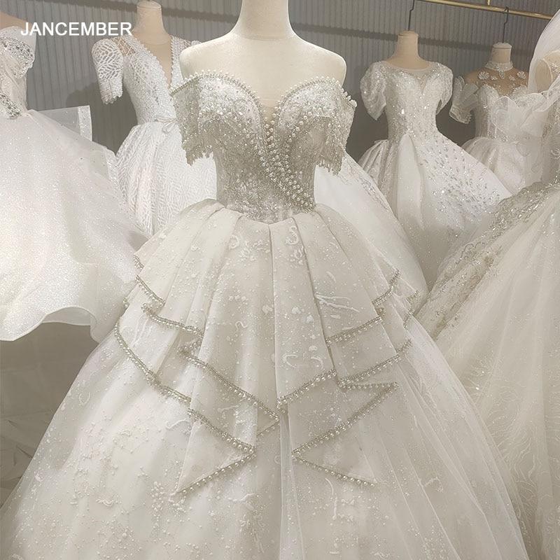 HLF41 2021 última moda para Vestido de novia Off-hombro Vintage de lujo...