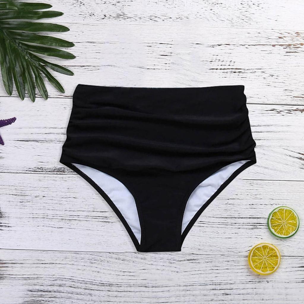 Bikini 2019 para mujer, Bikini de cintura alta, pantalones cortos para nadar, traje de baño inferior, traje de baño para mujer, traje de baño tankini