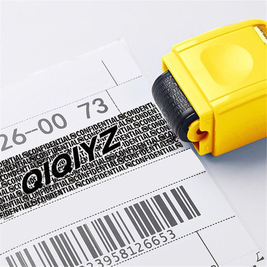 Универсальный роликовый штамп для дома и офиса, защитный штамп, роликовый штамп, Конфиденциальная защита информации, блокировщик идентифик...