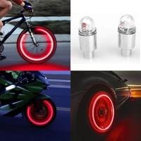 bostar 2pcs super bright tire valve caps lights muiticolor auto motorcycle bike accessories neon strobe led tire lamp