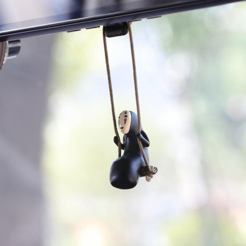 Cute Anime Car Accessorie Faceless Male Cat Pendant Auto Rearview Mirror Pendant Birthday Gift Auto Decoraction  Ornaments Coche